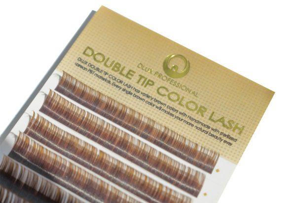 Вії Два тони чорні-коричневі Mix (12 лент)