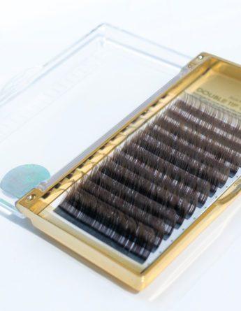 Ресницы Два тона черные-коричневые Mix (12 лент)