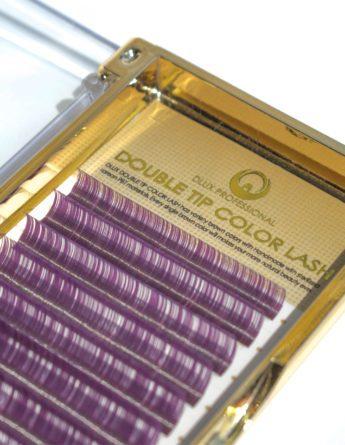 Ресницы Два тона черные-фиолетовые Mix (12 лент) 1