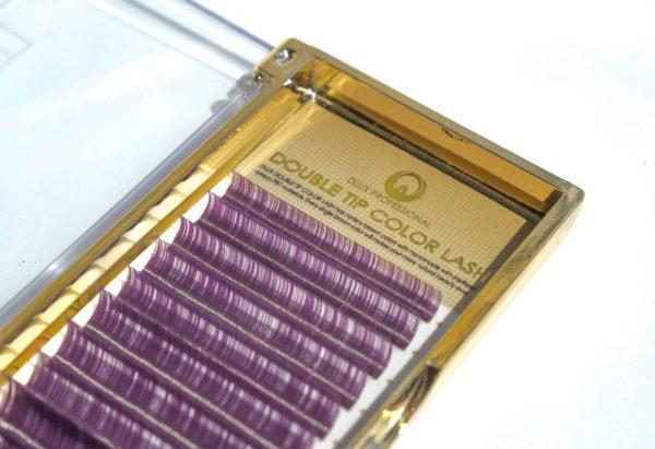 Ресницы Два тона черные-фиолетовые Mix (12 лент)