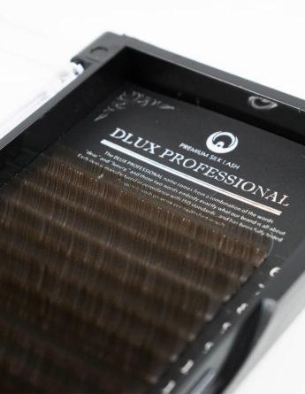 Вії Dlux Pro Silk Чорний шоколад Mix (18 стрічок) 1
