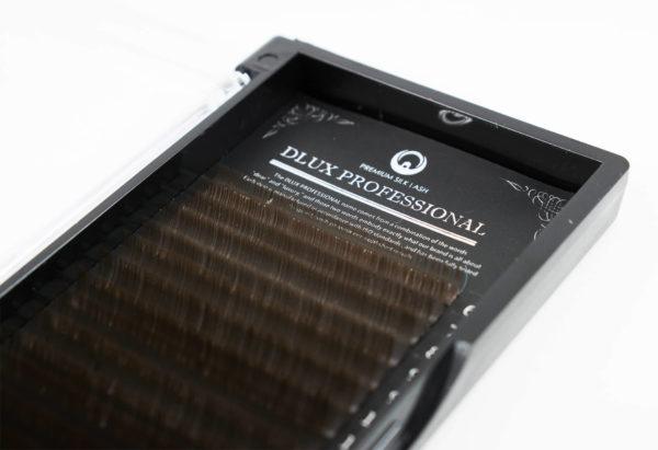 Вії Dlux Pro Silk Чорний шоколад Mix (18 стрічок)