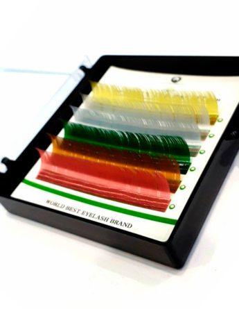 Ресницы DLUX цветные Pastel (6 лент) 1
