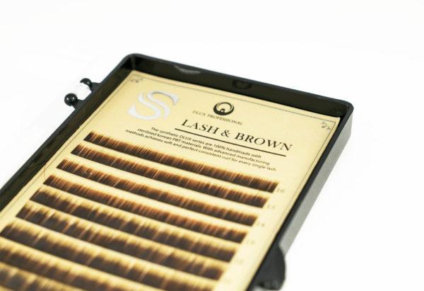Брови Dlux темно коричневі Mix (16 стрічок)
