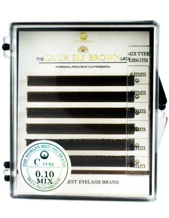 Ресницы Dlux Elf Черный шоколад Mix (6 лент)