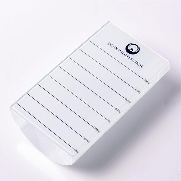 Выпуклый стеклянный планшет для ресниц Dlux